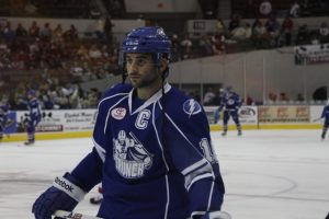Angelidis turned to Norfolk sporting the C for his new team. Photo Credit: (Anthony Buck/Anthony Buck Images)