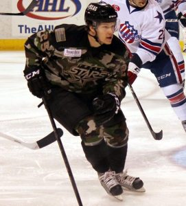 Matt Fraser during Military Appreciation Weekend (Ross Bonander / THW)