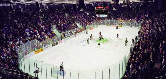 Inside the Old Engelstad Arena, UND Athletics