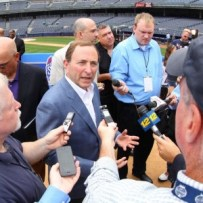 Gary Bettman has reportedly lobbied NHL owners to grant an expansion franchise to Seattle in time for the 2014-15 season. (Ed Mulholland-USA TODAY Sports)