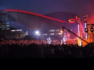 Night view of Calgary's Saddledome Summer of 2013 (Jackie Soo)