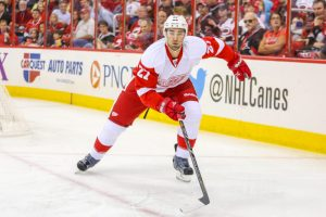 Detroit Red Wings defenseman Kyle Quincey