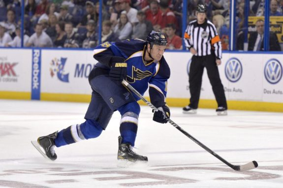 Bouwmeester has been a welcomed addition to the Blues' power play (Jasen Vinlove-USA TODAY Sports)
