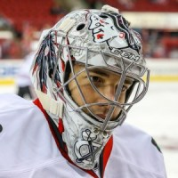 Chicago Blackhawks goaltender Corey Crawford