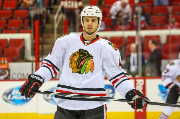 Niklas Hjalmarsson could be an upgraded version of Andrew MacDonald, but would he be willing to accept a trade to Long Island?  Photo Credit:  Andy Martin Jr