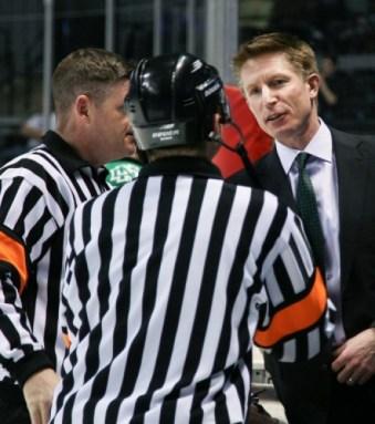 UND head coach Dave Hakstol, UND Athletics/Kory Wallen