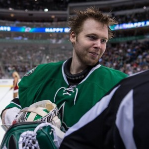 Kari Lehtonen's play has been key to the Stars' early-season success. (Jerome Miron-USA TODAY Sports)