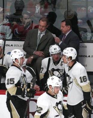 Dan Bylsma hired Jacques Martin to help cure the team's defensive woes. It's yet to pay off. (Jean-Yves Ahern-USA TODAY Sports)