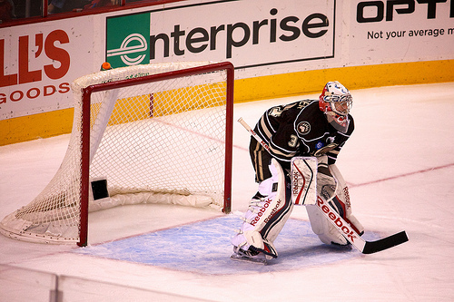 Hershey Bears goalie Philipp Grubauer (Annie Erling Gofus/The Hockey Writers)