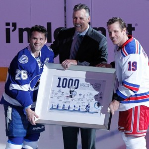 Dave Andreychuk, Martin St. Louis, Brad Richards, Tampa Bay Lightning