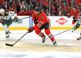 Brandon Saad will be getting a larger paycheck come next season (Dennis Wierzbicki-USA TODAY Sports)
