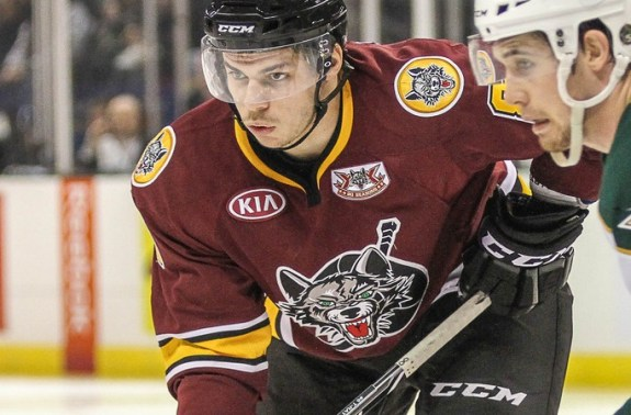 Ty Rattie with the Chicago Wolves