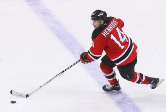 Adam Henrique: future captain of the NJ Devils? (Ed Mulholland-USA TODAY Sports)