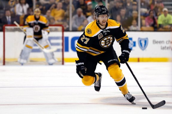 (Winslow Townson-USA TODAY Sports) Boston Bruins defenceman Dougie Hamilton, the key piece I received in a package for Ryan Getzlaf, hasn't done much offensively to start this season. But with Chara going down, Hamilton will be given ample opportunity to step up. Sorry Chara owners, but your loss just might be my gain.