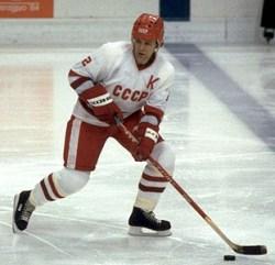 Slava Fetisov of the Detroit Red Wings.