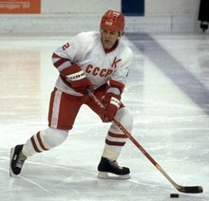 Slava Fetisov of the Detroit Red Wings