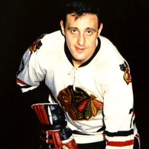 Phil Esposito - two goals for Hawks.