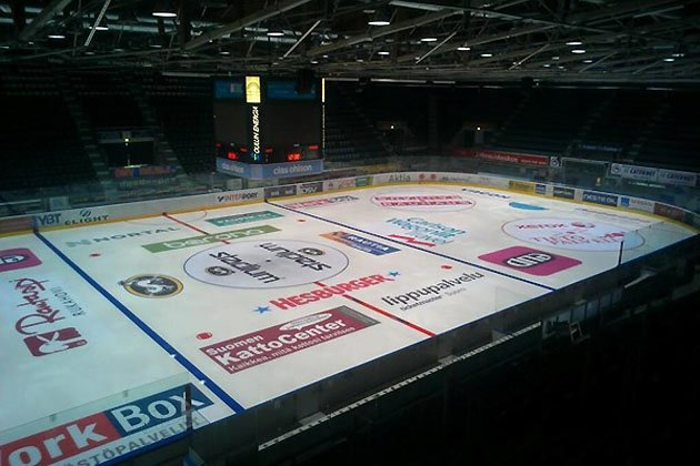 On-Ice ads in Finland