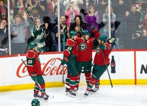 Goal celebrations have no been a common sight for the Minnesota Wild lately. (Brad Rempel-USA TODAY Sports)