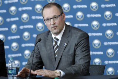 (Kevin Hoffman-USA TODAY Sports) Could Dan Bylsma be the next coach fired? Things haven't been going according to plan in Buffalo.