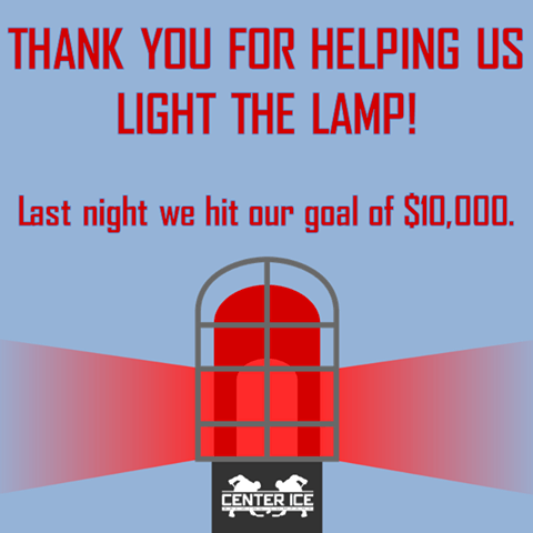 The Center Ice Brewery is so thankful for all who've helped them surpass the $10,000 mark