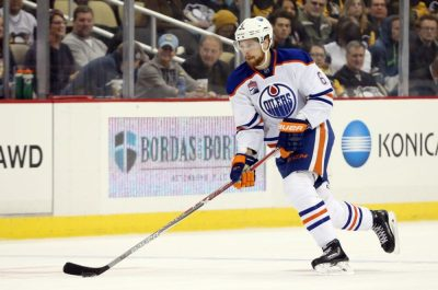 (Charles LeClaire-USA TODAY Sports) Adam Larsson is arguably having a bigger impact on the Edmonton Oilers than Taylor Hall is on the New Jersey Devils halfway through the first season since being traded for each other.