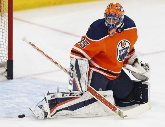 Oilers goaltender Al Montoya
