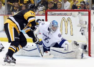 Andrei Vasilevskiy appears to be the Tampa Bay Lightning's future in net.(Charles LeClaire-USA TODAY Sports)