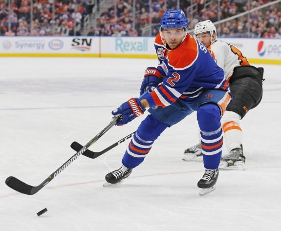 Oilers defensemen Andrej Sekera