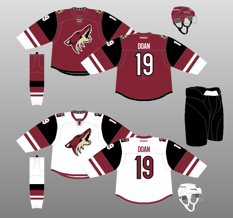 coyotes uniform history