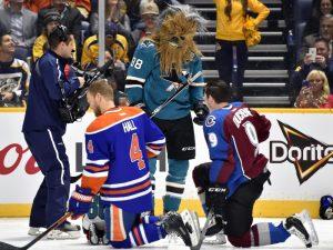 Brent Burns, Chewbacca, Star Wars, NHL All-Star Weekend, San Jose Sharks