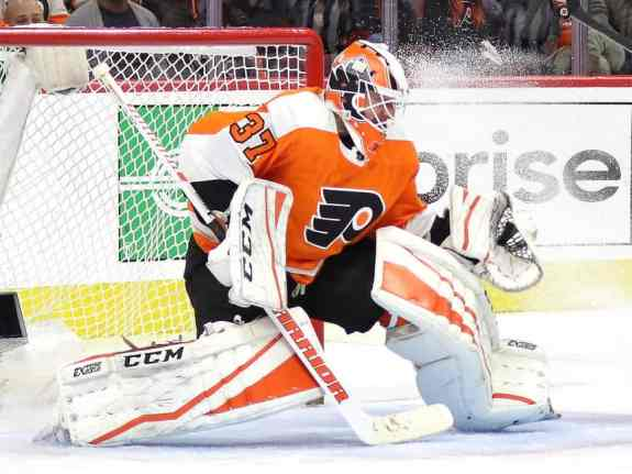 Brian Elliott of the Philadelphia Flyers.