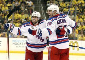 Mats Zuccarello, Chris Kreider, NHL, New York Rangers