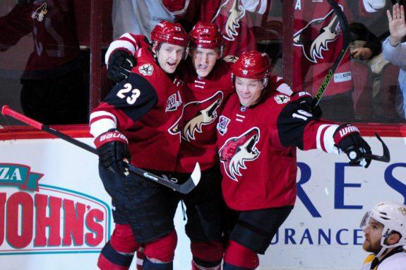 Max Domi, Christian Dvorak, Oliver Ekman-Larsson, Arizona Coyotes, NHL