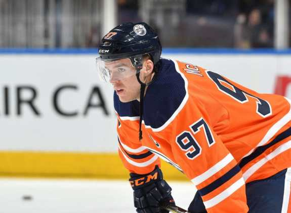 Connor McDavid #97 of the Edmonton Oilers