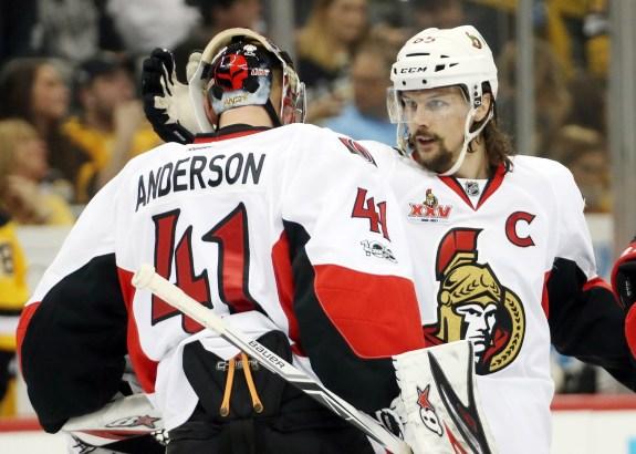 Erik Karlsson, Craig Anderson