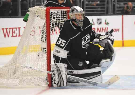Los Angeles Kings goalie Darcy Kuemper