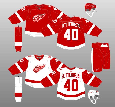 Detroit Red Wings 2017-Present Jerseys