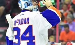 Islanders' Prospect McAdam Works with Halak & Ho-Sang
