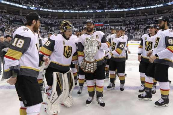Vegas Golden Knights celebrate