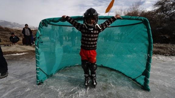 Highest Altitude Hockey Game Kid