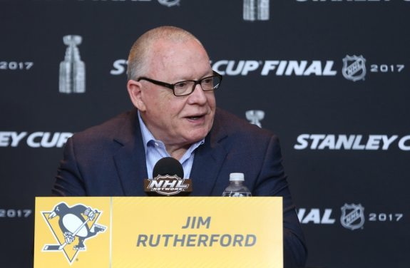 Penguins general manager Jim Rutherford