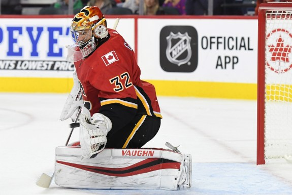 Calgary Flames goalie Jon Gillies