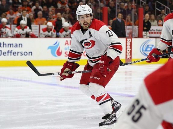 Justin Faulk of the Carolina Hurricanes