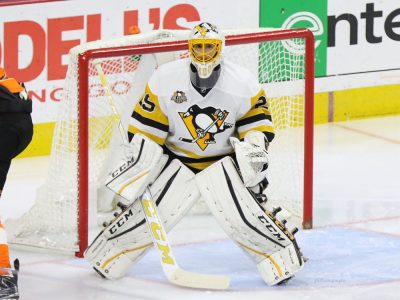 (Amy Irvin/The Hockey Writers) The Pittsburgh Penguins are eventually going to have to make a decision on Marc-Andre Fleury, whether that is trading him, asking him to waive his no-movement clause for the expansion draft or, worst-case scenario, buying him out to avoid exposing Matt Murray.
