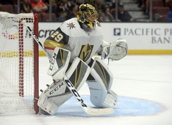 Vegas Golden Knights goalie Marc-Andre Fleury
