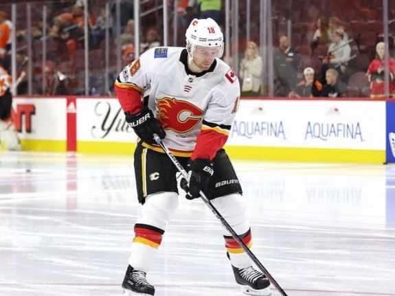 Matt Stajan #18, Calgary Flames