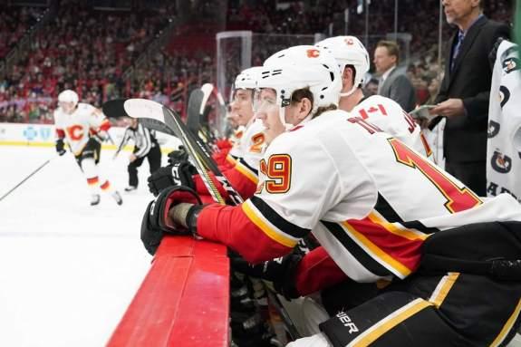 Flames forward Matthew Tkachuk