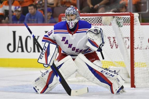 New York Rangers goalie Ondrej Pavelec