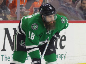 Patrick Eaves of the Dallas Stars is a pending free agent.
